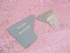 Oliver Super 77 S77 Tractor Original Rear Hood Cover Panels Panel Shields