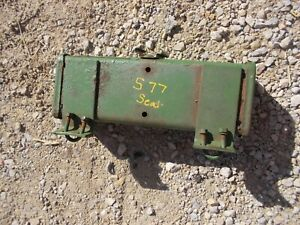 Oliver Super 77 S77 Tractor Original Seat Tool Box W Slow Moving Veh Bracket
