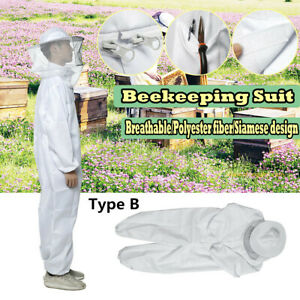 L 2xl Bee Keeper Suit Beekeeping Veil Jacket Full Body Protection Outfit Hat Us