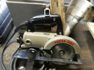 Usa Porter Cable 314 Worm Drive Circular Saw W Case And Wrenches