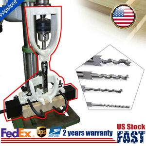 Hole Chisel Mortising Mortise Tenon Woodworking Tool For Drilling Machine Bench
