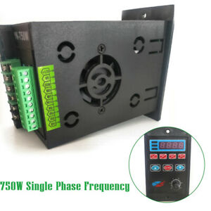 750w Single Phase Variable Frequency Drive Inverter Converter Ac 220v Us