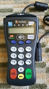First Data Fd 30 Credit Debit Card Swipe Reader Pin Pad Works Perfectly