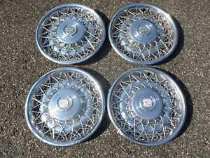 Factory 1975 To 1979 Cadillac Seville Fleetwood Wire Spoke Hubcaps Wheel Covers