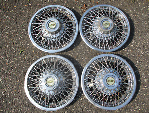 Genuine Chevy Monza Corvair Celebrity 13 Inch Wire Spoke Hubcaps Wheel Covers