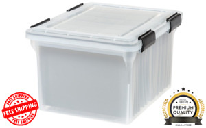 Letter And Legal Size Weathertight File Box Clear