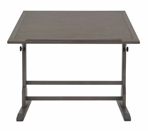 Offex Classic Design Vintage Solid Wood Drawing drafting Table Slate Gray