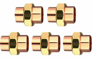 Elkhart 33582 Lot Of 5 Five 3 4 Copper To Copper Union Plumbing
