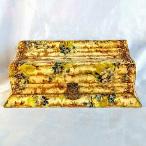 Antique Ornate Wood Jewelry Box Extremely Old