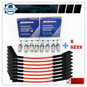 Set 8 9748rr Wires Acdelco 41 962 Spark Plugs For Chevy Gmc 4 8 5 3l 6 0l V8