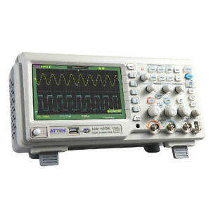 100mhz Digital Oscilloscope Scope 7 Lcd Dso Memory Upto 2mpts Atten Ads1102cml