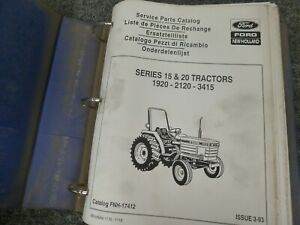 Ford New Holland 1920 2120 3415 Tractor Parts Catalog Manual