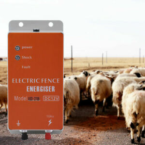 Livestock Electric Fence Controller Energizer Charger For Animals Cattle Poultry
