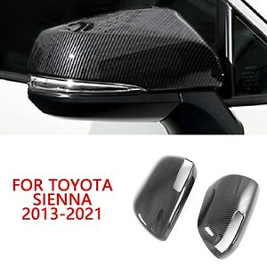 For Toyota Sienna 2013 21 Abs Carbon Fiber Look Side Door Rearview Mirror Cover