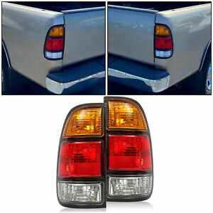 Set Of 2 Tail Light Lamp For Toyota Tundra 00 06 815500c010 Lh Amp Rh With Bulb Fits 2002 Toyota Tundra