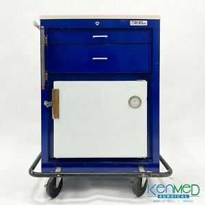 Blue Bell Hypothermia Crash Cart With Refrigerator freezer
