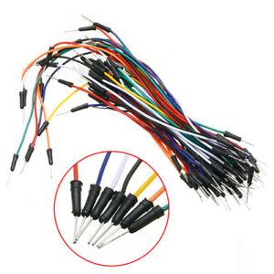 65pcs Solderless Prototype Breadboard Jumper Cables Wires Various Lengths Fs