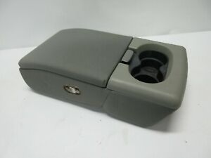 04 08 Ford F 150 Jump Seat Center Console Armrest W 2 Cup Holder Light Gray