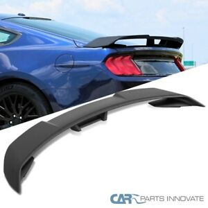 For 15 20 Ford Mustang Gt500 Style Matte Black Rear Trunk Spoiler Tail Wing 1pc