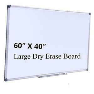 Large 60 X 40 in Magnetic Dry Erase Board With Pen Tray Wall 60 X 40