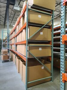 Warehouse Racking Uprights Teardrop Style 120 By 48 Green