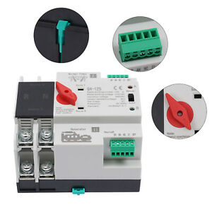 100a 110v Dual Power Switch 2p Automatic Transfer Switch Generator Pc Level