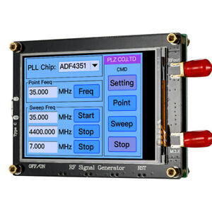 35m 4 4g Output Frequency Range Rf Signal Generator Pll Sweep Touch Screen