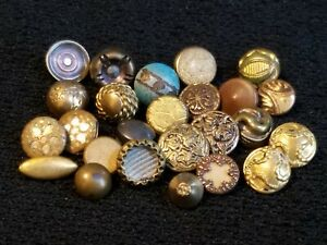 25 Tiny Dimi Antique Vintage Twinkle Mirror Back Collector Buttons Lot 8x