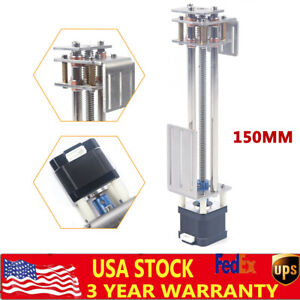 3 Axis Cnc Z Axis 150mm Diy Slide Linear Motion Milling Engraving Motion Machine