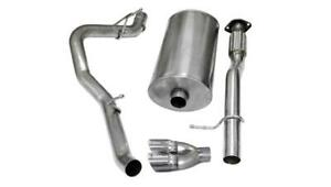 Corsa 3 Polished Sport Cat Back Exhaust For 07 08 Chevrolet Suburban 1500 5 3l