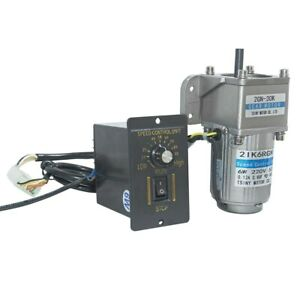 110v 6w 180k Ac Gear Motor Electric Motor Variable Speed Controller 7 5 450rpm