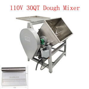 30qt Electric Dough Flour Mixer Commercial Heavy Duty Mixing Machine With Stand