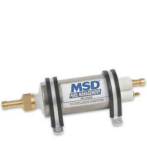 Msd High Pressure Electric Fuel Pump Efi Systems 3 8 Inlet 5 16 Outlet 43 Gph
