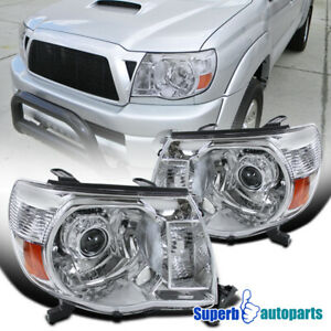 For 2005 2011 Toyota Tacoma Projector Headlights Lamps Pair Right Left 05 11