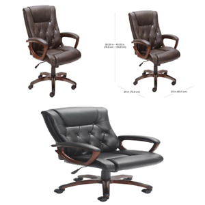 Office Rolling Computer Chair High Executive Back Desk Leather Heavy Duty