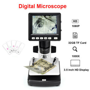 1000x Digital Electronic Hd Hdmi Lcd Video Microscope Magnifier For Pc Computer