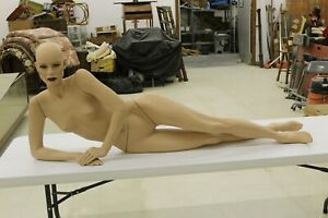 Vintage Female Mannequin Realistic Full Size Laying