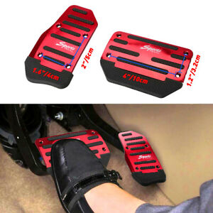 Red Non Slip Automatic Gas Brake Foot Pedal Pad Cover Car Accessories Parts D