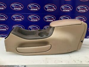 97 02 Ford Expedition Center Console Assembly Tan Cup Holder Storage Stock Oem