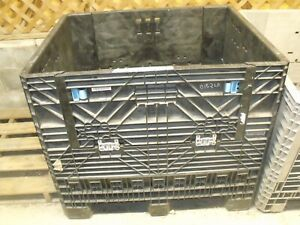 Black Pallet Size Collapsible Storage Container local Pa Pickup Only