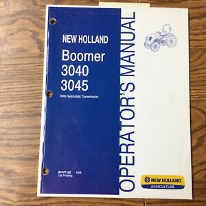 New Holland Boomer 3040 3045 Tractor Operator Manual Maintenance Guide 87477122