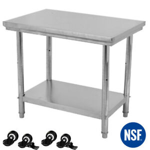 24 X 36 Stainless Steel Kitchen Work Prep Table Bench Commercial Restaurant
