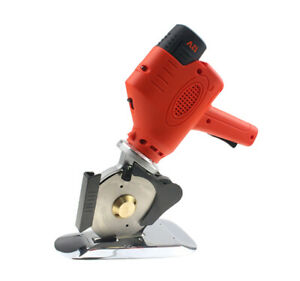 Battery power Rotary Fabric Cutter Carpets Leather Cloth Fabric Cutting Machine