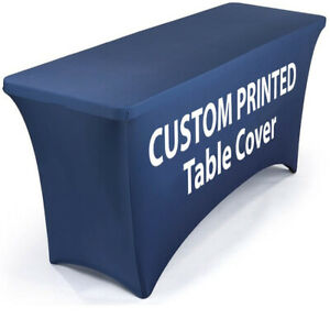 6 Fitted Trade Show Display Booth Table Cloth Dye sub Printing Full colors