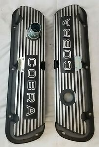Cobra Black Ford M 6582 F302 Valve Covers For 289 302 351 Engines