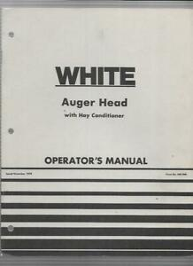 White Auger Head With Hay Conditioner Operator s Manual