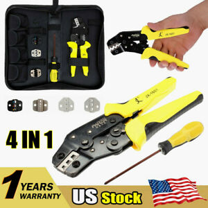 Wire Crimpers Ratcheting Terminal Crimping Pliers 4 In 1 Cord End Terminals Tool