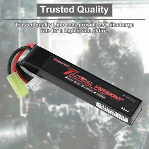 11.1V 1000mAh 3S LiPO Rechargeable Battery 20C for Airsoft with Mini Tamiya Plug $14.19