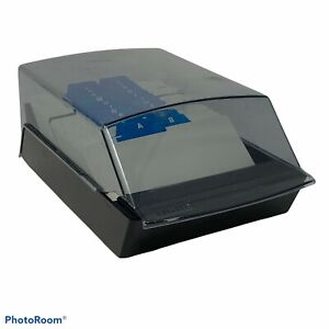 Rolodex Black Vip35c Covered 3x5 Business Card File A z Tabs Desktop Flat flaw
