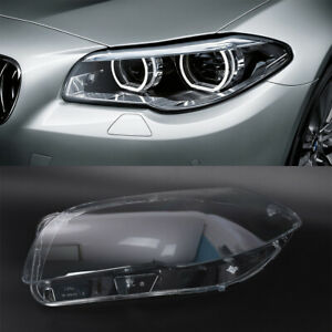 Left Headlight Clear Cover Lens For 10 14 Bmw 5 Series F10 F18 520 523 525 535